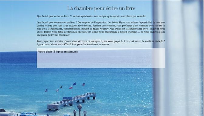Concours Chasseurs de vue : La chambre pour écrire un livre au Hyatt Nice